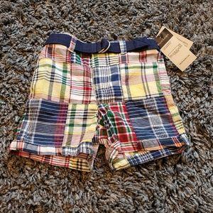 NWT Polo Ralph Lauren Plaid Shorts 12m